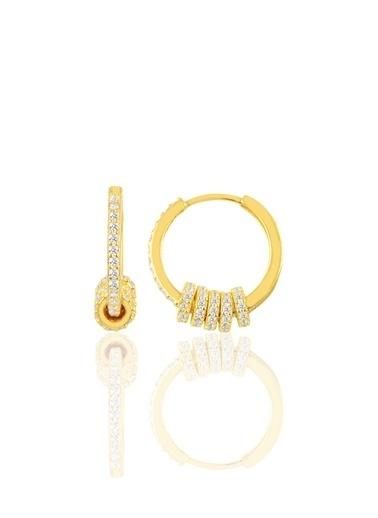 Söğütlü Silver Gümüş Zirkon Taşlı Altın Yaldızlı Rg K Sarı